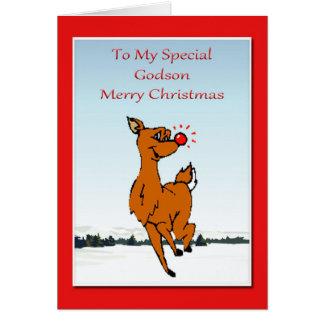 Carte de Noël pour le filleul