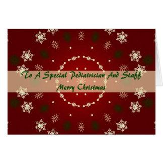 Carte de Noël pour le pédiatre et le personnel