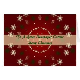 Carte de Noël pour le transporteur de journal