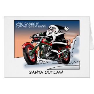 Carte de Noël proscrite par Père Noël