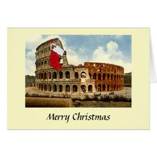 Carte de Noël - Rome, le Colosseum