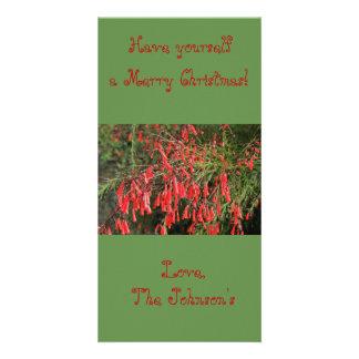 Carte de Noël rouge d'usine de pétard