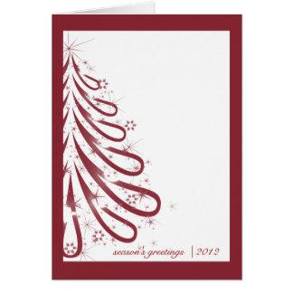 Carte de Noël rouge et blanche d'affaires d'hiver