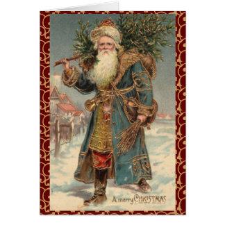 Carte de Noël rustique victorienne vintage de Père