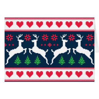 Carte de Noël sans couture de motif d'hiver