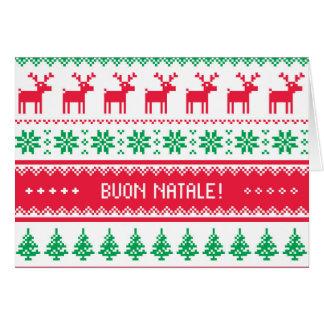 Carte de Noël sans couture de motif en italien