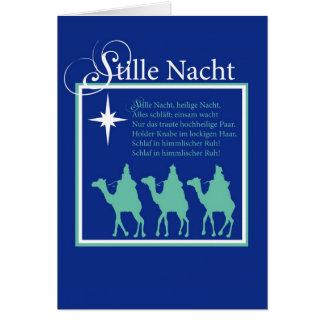 Carte de Noël silencieuse allemande de nuit