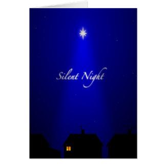 Carte de Noël silencieuse de nuit