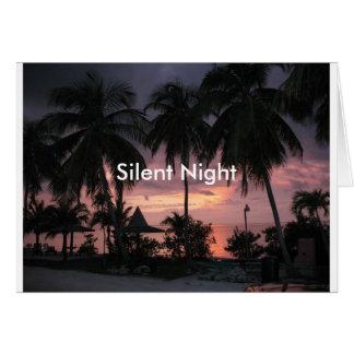 Carte de Noël silencieuse tropicale de nuit