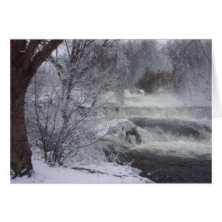 Carte de Noël spirituelle de cascade majestueuse