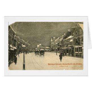 Carte de Noël, Stratford-sur-Avon