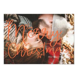 Carte de Noël SURDIMENSIONNÉE de NOËL Carton D'invitation 12,7 Cm X 17,78 Cm