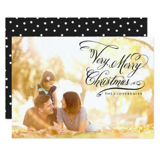 Carte de Noël très Joyeux Carton D'invitation 12,7 Cm X 17,78 Cm