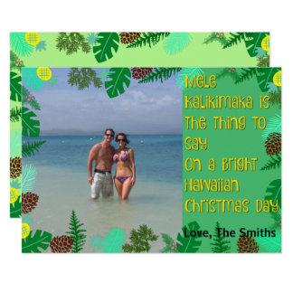 Carte de Noël tropicale de plage de Mele