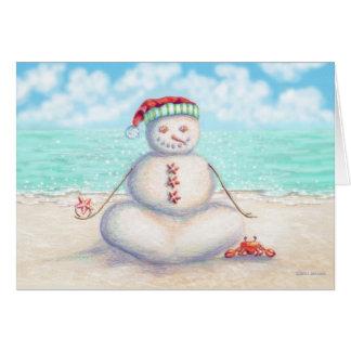 Carte de Noël tropicale de yoga