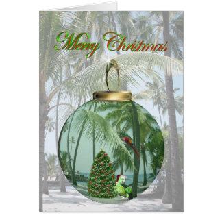 Carte de Noël tropicale d'oiseau