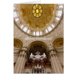 Carte de Noël verticale de cathédrale de Berlin