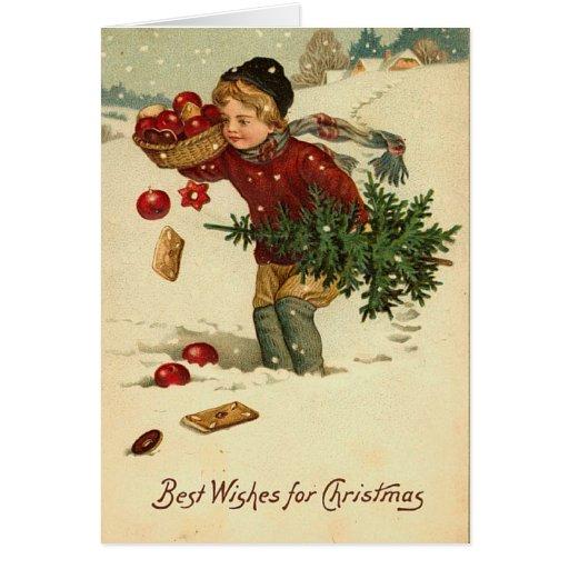 Carte de Noël victorienne