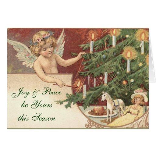 Carte de Noël victorienne d'ange
