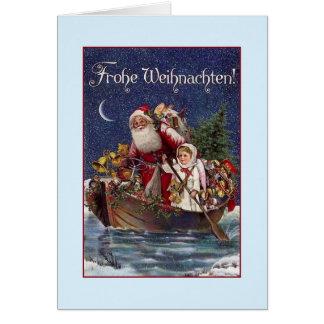 Carte de Noël victorienne de Frohe Weihnachten
