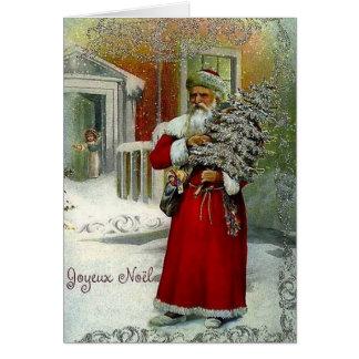 Carte de Noël victorienne de Joyeux Noel de