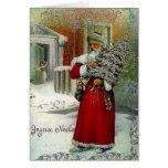 Carte de Noël victorienne de Joyeux Noel de França
