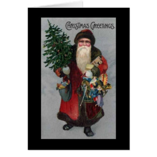 Carte de Noël victorienne du père noël d'ère