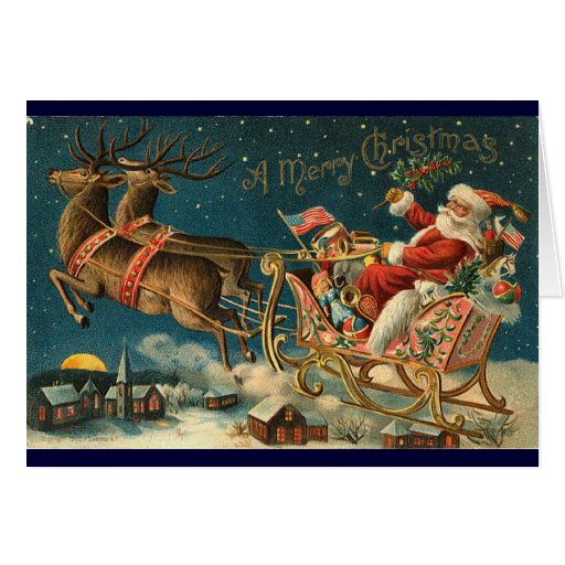 Carte de Noël victorienne - Père Noël