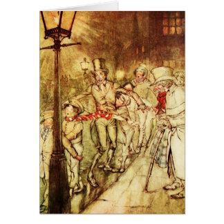 """Carte de Noël vintage """"courrier de lumière """""""
