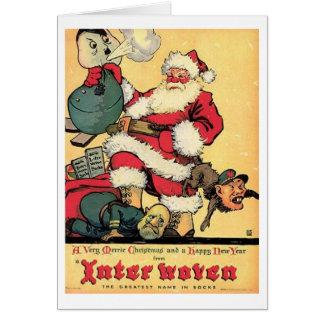 Carte de Noël vintage de 2ÈME GUERRE MONDIALE et