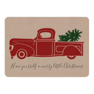 Carte de Noël vintage de camion