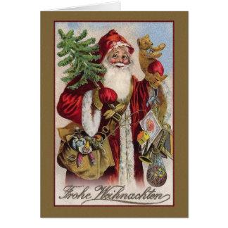Carte de Noël vintage de Frohe Weihnachten