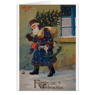 Carte de Noël vintage de Fröhliche Weihnachten
