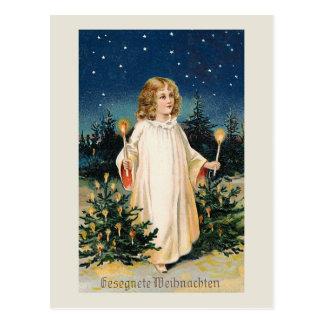 """Carte de Noël vintage de """"Gesegnete Weihnachten"""""""