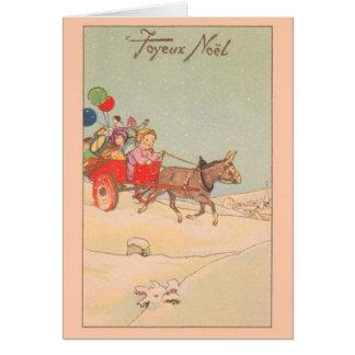 Carte de Noël vintage de Joyeux Noël de Français
