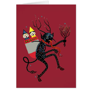 Carte de Noël vintage de Krampus