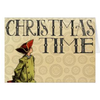 """Carte de Noël vintage """"temps de Noël """""""