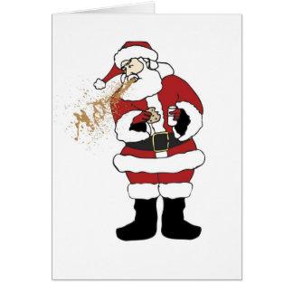 Carte de Noël vomissante de Père Noël