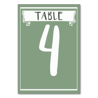 Carte de nombre de Tableau - 4