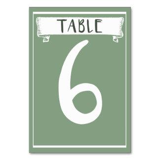 Carte de nombre de Tableau - 6