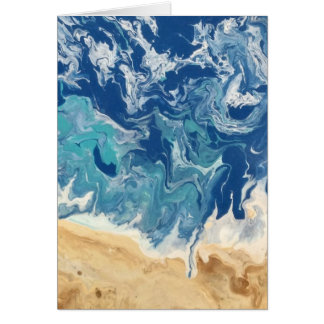 Carte de note abstraite de plage