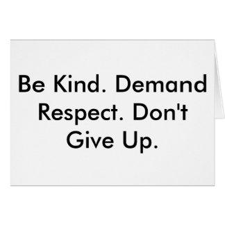 Carte de note au sujet de la gentillesse, du