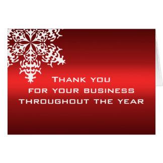 Carte de note blanche et rouge de Merci d'affaires
