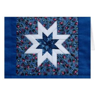 carte de note bleue d'étoile d'édredon