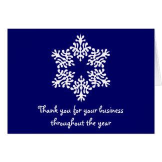 Carte de note bleue et blanche de Merci d'affaires