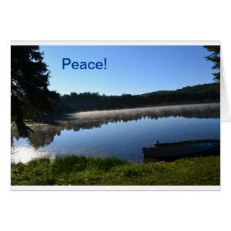 Carte de note brumeuse de lac