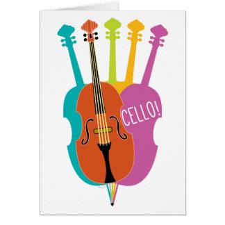 Carte de note colorée d'instruments de musique de