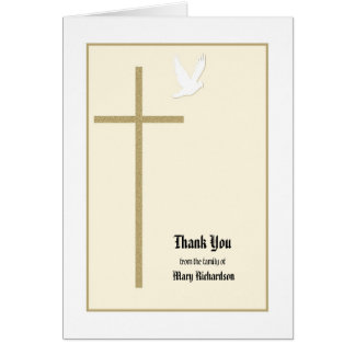 Christian Memorial Thank You Note Card