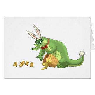 Carte de note d'alligator de Pâques