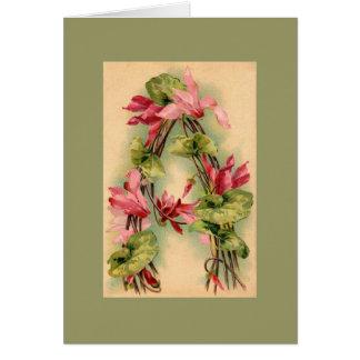 CARTE de NOTE d'alphabet de fleur de Klein DKGR